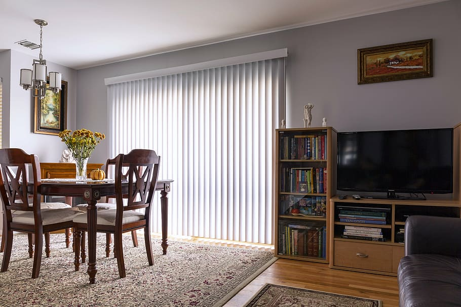 living room blind example